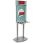 Poster Frame Charging Station Kiosk with Rubber Feet