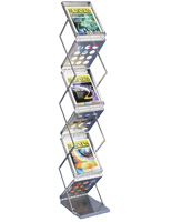 Portable Magazine Rack with Collapsible Design