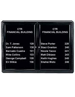 "47"" Enclosed Changeable Letter Boards with Black Frame"