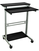Adjustable Sit Stand Workstation w/ Wheels