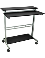 Height Adjustable Computer Desk w/ Casters