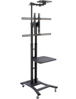 Black Teleconference TV Stand is Height Adjustable