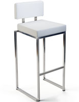 Stainless Steel Barstool with PU Leather