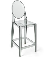 Smoke Ghost Counter Stool with Backrest