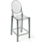 Smoke Ghost Counter Stool with Footrest