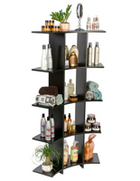 Black Curved Wooden Shelves