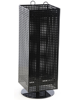 Black Pegboard Display Stand- Spinning