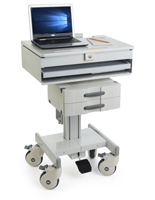 Height Adjustable Medical Cart for Healthcare Facilities