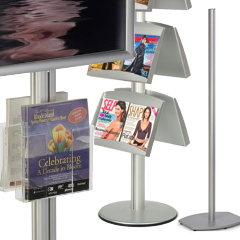 modular metal literature stands