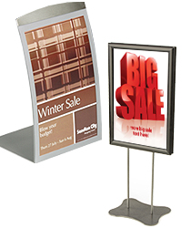 Metal (Magnetic Lens u0026 Snap Open)  sc 1 st  Picture Frames Warehouse & Table Tents | Counter u0026 Tabletop Menu or Sign Holders