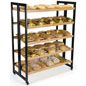 Rolling Wood Shelves for Baked Goods