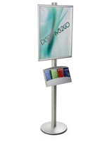 22x28 Dual Frame Stand with Pamphlet Pockets, Height Adjustable Accessories