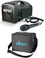 All-in-One PA System with Handheld Wire Microphone