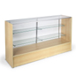 display case made from maple melamine