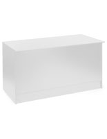6' Solid White Store Counter