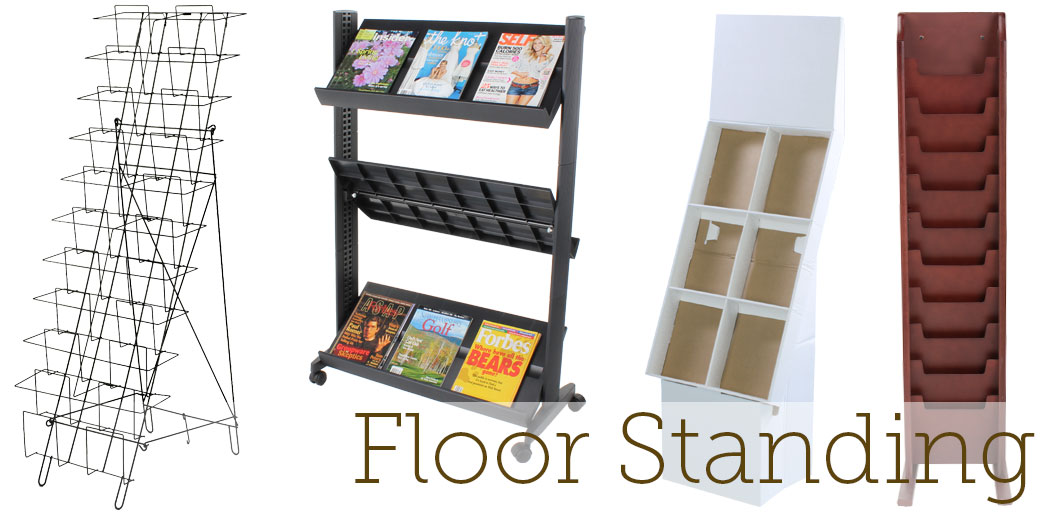 floor standing magazine racks