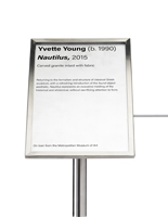 7 x 11 Silver museum barrier 45-degree sign plate for artwork labels