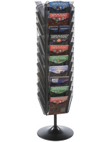 Contemporary Revolving Mesh Brochure Stand