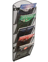 Hanging Mesh Magazine Rack for Catalogs