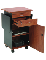 AV Lectern with Locking Cabinet and Drawer
