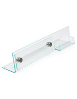 Acrylic Desk Nameplate with Business Card Holder