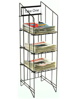 Newspaper Racks with 3 Shelves