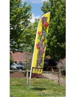 Colorful Flower Sale Feather Flag