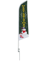 Merry Christmas green feather banner for holiday promotions