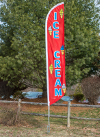 "Pre-Printed ""Ice Cream"" Banner Flag"