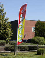 now leasing flags