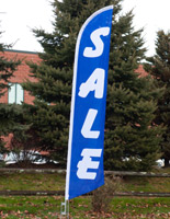 Vertical Sale Flag