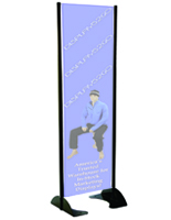 "24"" x 72"" Black Permanent Banner Stand without Graphic"