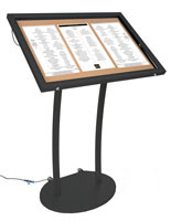 Menu Display Stand