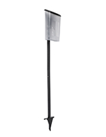 Freestanding black outdoor brochure holder with lawn stake