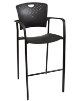 "Stackable Stool Chair, 23"" Wide"