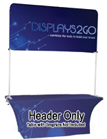 6' Trade Show Table Header Is Super Easy to Set Up and Transport