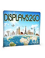 8' Trade Show Booth Backdrop Features Two Sides Of Your Designs