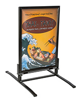 Springer Sidewalk Sign w/ Double Sided Snap Frame and Magnetic Lining
