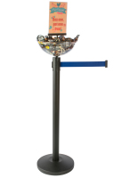 Durable Blue Stanchion & Post with Bowl