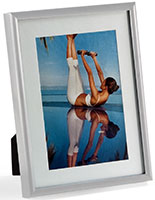 "4"" x 6"" Silver Metal Photo Frames with White Matting"