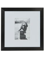 Oversized Black 5x7 Mat Frame for Wall
