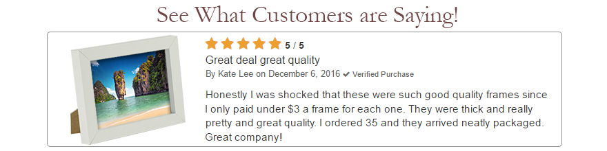 5-Star review from happy customer