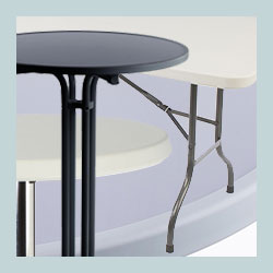 plastic folding tables trade show furniture