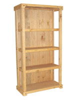 Wood Shelving Stand with 3 Open Shelves