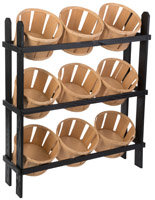 Basket Display Stand with 9 Bins