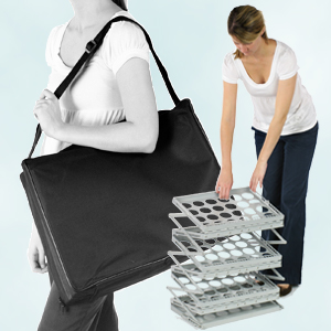 portable trade show literature racks with carrybag