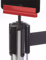 Colorific Red Post Top Bracket for Tensabarrier® Posts