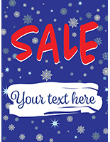 "18"" x 24"" ""Winter Sale"" Window Banner with Customizable Area"