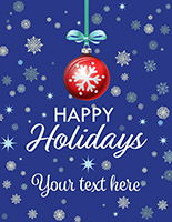 "22"" x 28"" ""Happy Holidays"" retail shop poster with seasonal theme"