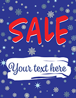"22"" x 28"" winter Sale window sign for store promotions"